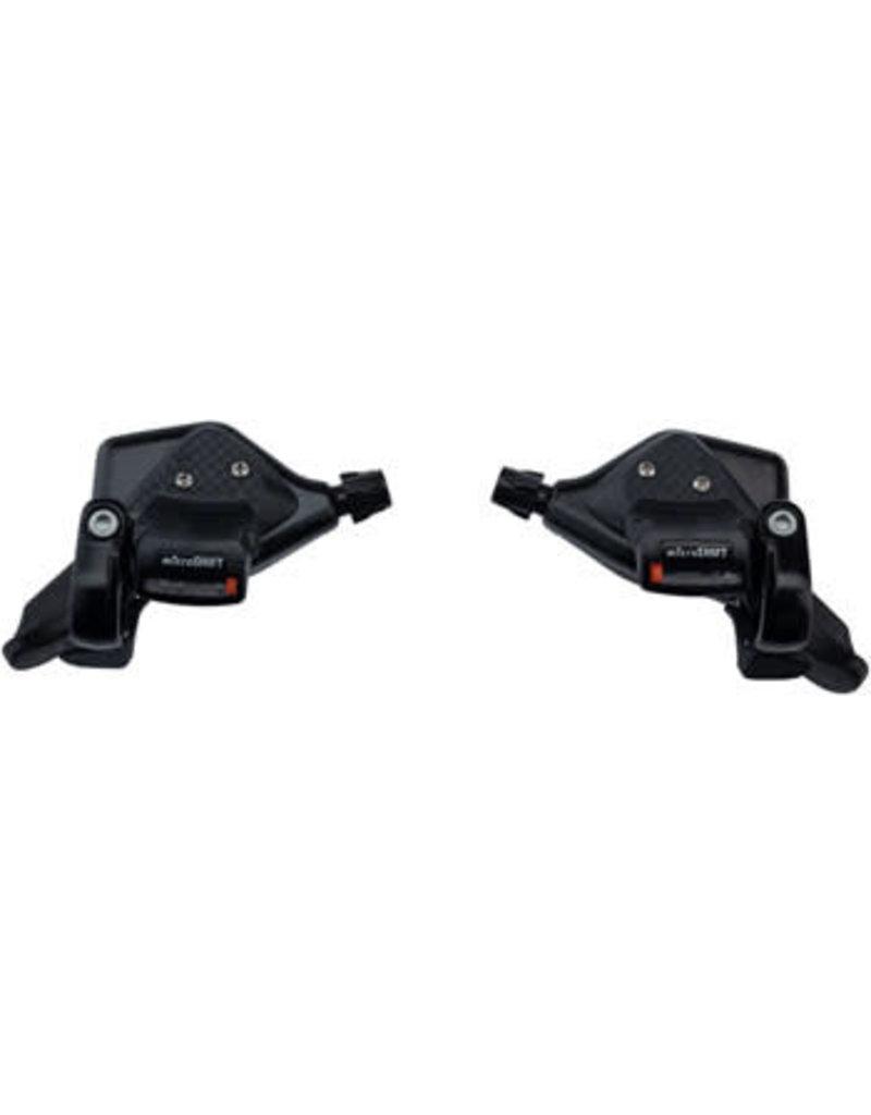Microshift microSHIFT TS71 Thumb Tap Shifter Set, 7-Speed, Triple, Optical Gear Indicator, Shimano Compatible