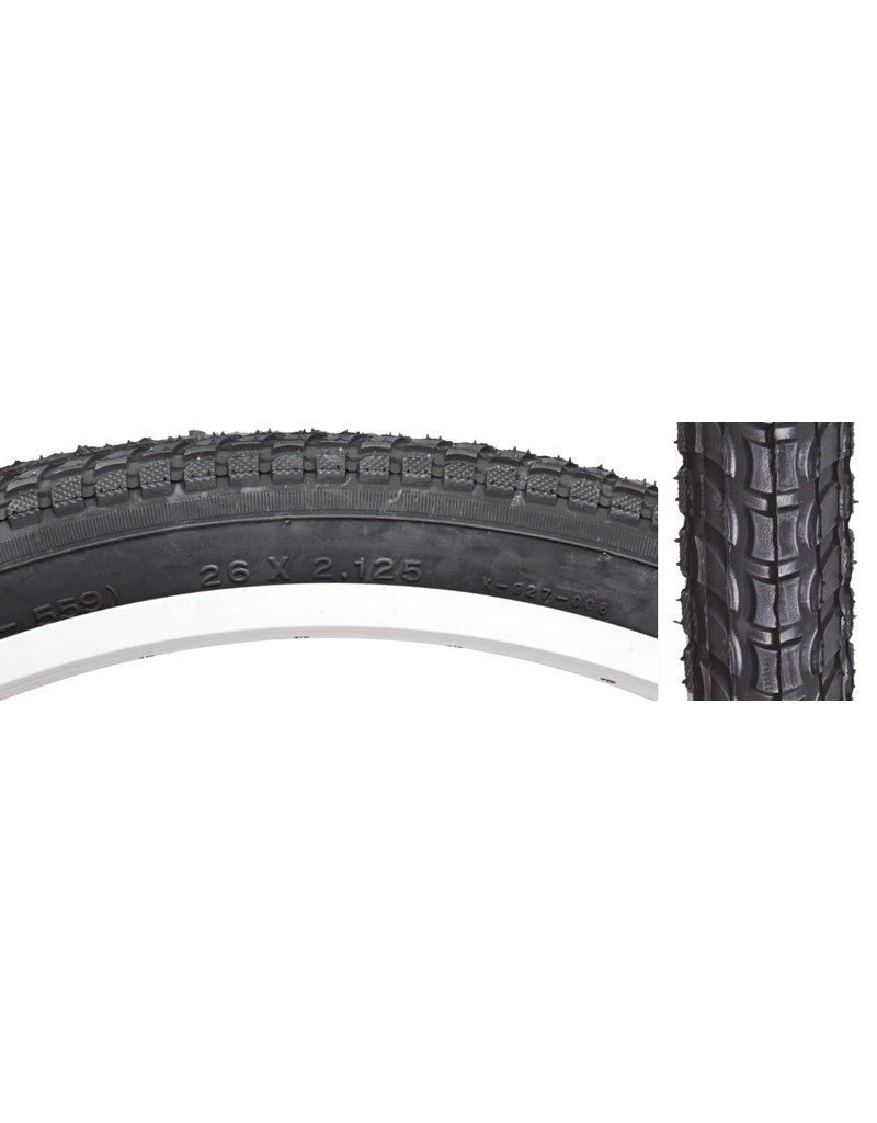 Kenda 26x2.125 Kenda Komfort K927 Black Cruiser Tire w/Sun Logo