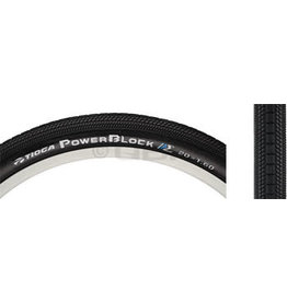 Tioga 24x1.75 Tioga PowerBlock Tire, Clincher, Wire, Black, 60tpi