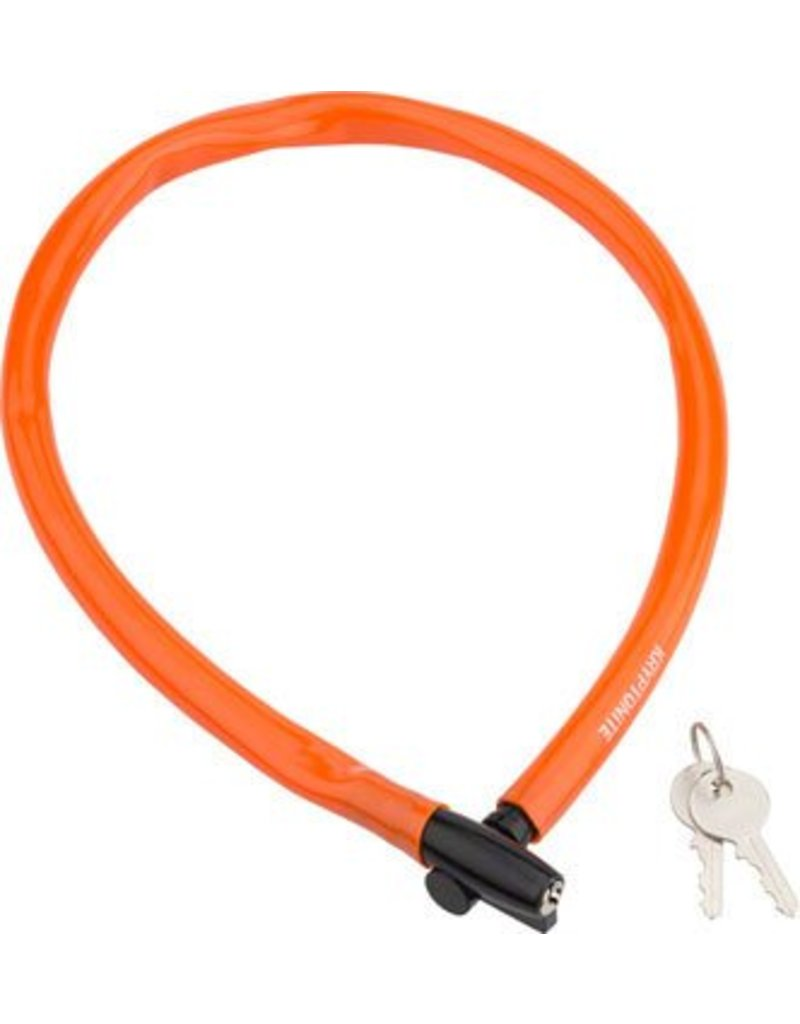 Kryptonite Kryptonite Keeper 665 Cable Lock with Key: 2.13' x 6mm Orange