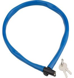 Kryptonite Kryptonite Keeper 665 Cable Lock with Key: 2.13' x 6mm Blue
