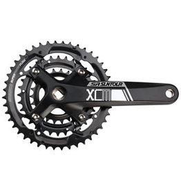 SR Suntour SR Suntour XCM-T Crankset - 175mm, 9-Speed, 44/32/22t, 104/64 BCD, Square Taper JIS Spindle Interface, Black