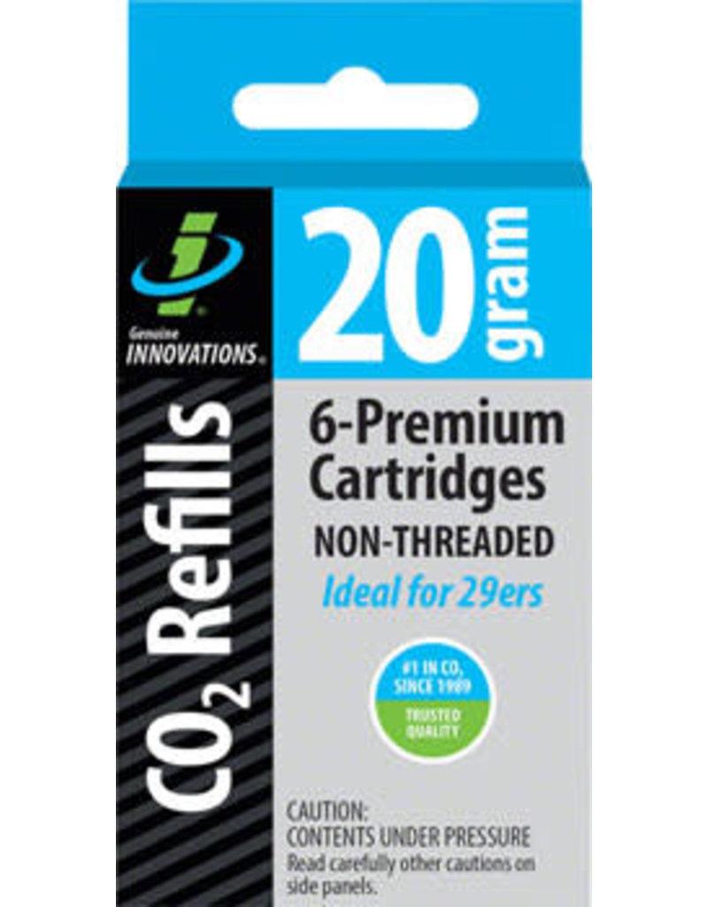 Genuine Innovations Genuine Innovations 20g Threadless Co2 Cartridges: 6-Pack
