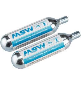 MSW MSW CO2-25 CO2 Cartridge: 25g, Each