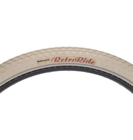 Continental 26x2.0 Continental Retro Ride Tire, Cream Wire Bead