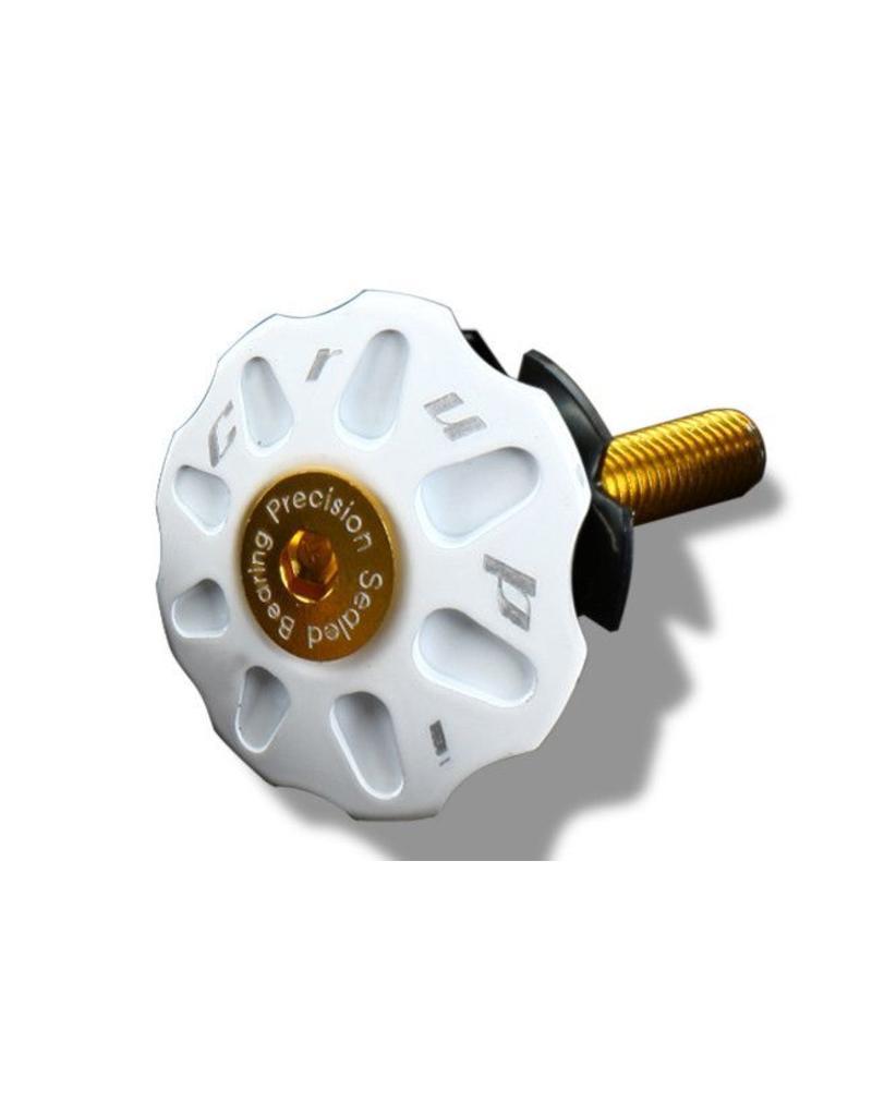Crupi Crupi Headset Top Cap 1-1/8 White