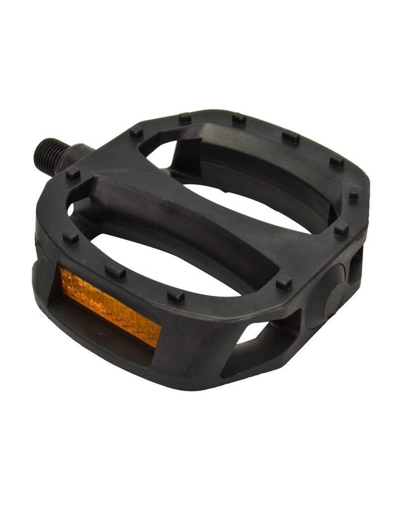 Sunlite Nylon Platform Pedals 1/2in Strap Compatible Black
