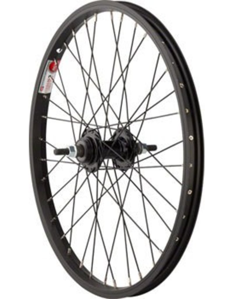 Sta-Tru Rear Wheel 20x1.75 Solid Axle, 36 Spokes, Includes Axle Nuts, Black