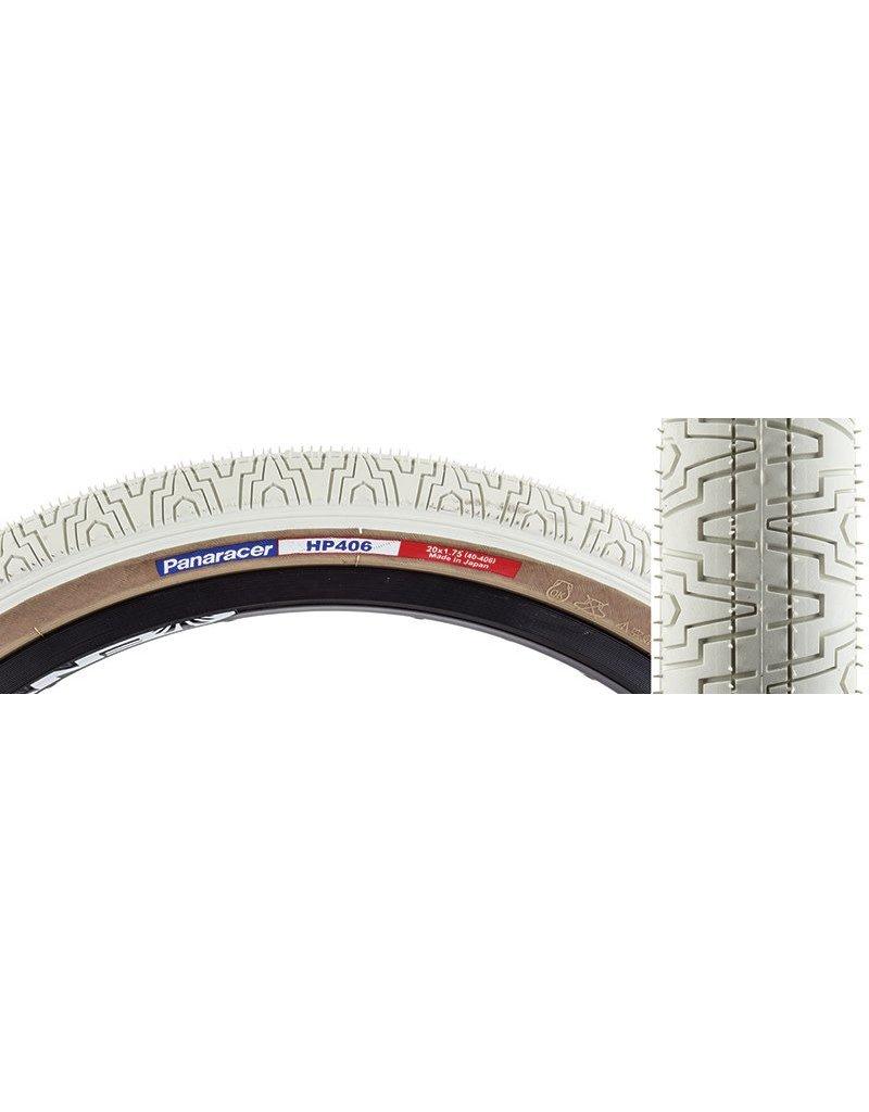 Panaracer 20x1.75 Panaracer Tire HP406 Wire Bead White w/Skinwall