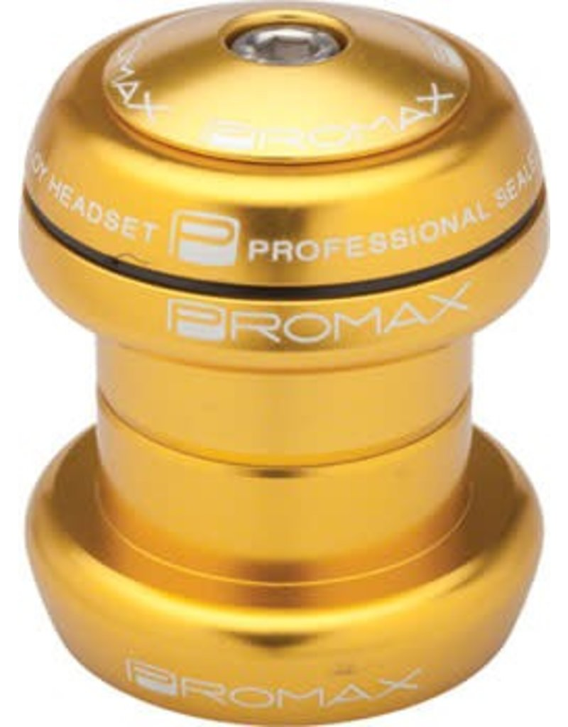 """Promax Promax PI-1 Alloy Sealed Bearing 1-1/8"""" Press in Headset Gold"""