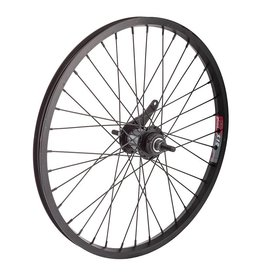 20x1.75 (406x19) Rear Wheel Alloy Black 36h, Coaster Brake, 110mm, 14g black, w/TRIM KIT