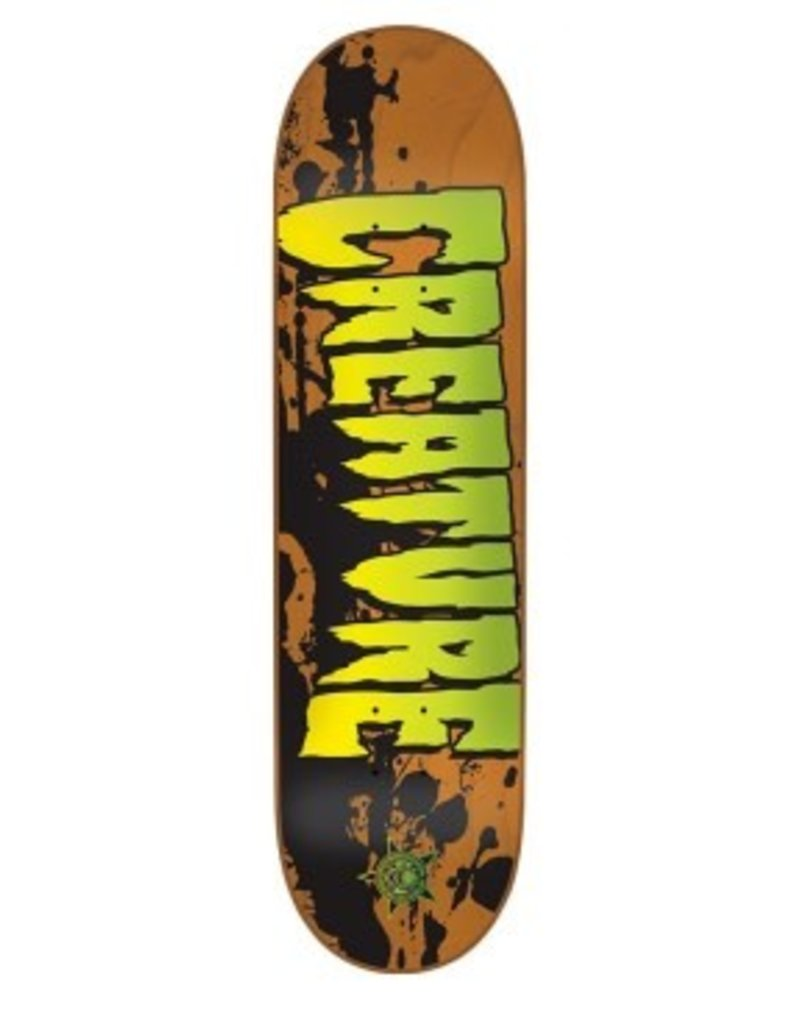 Creature 7.4x27.6 Stained XS Orange Creature Skateboard Deck