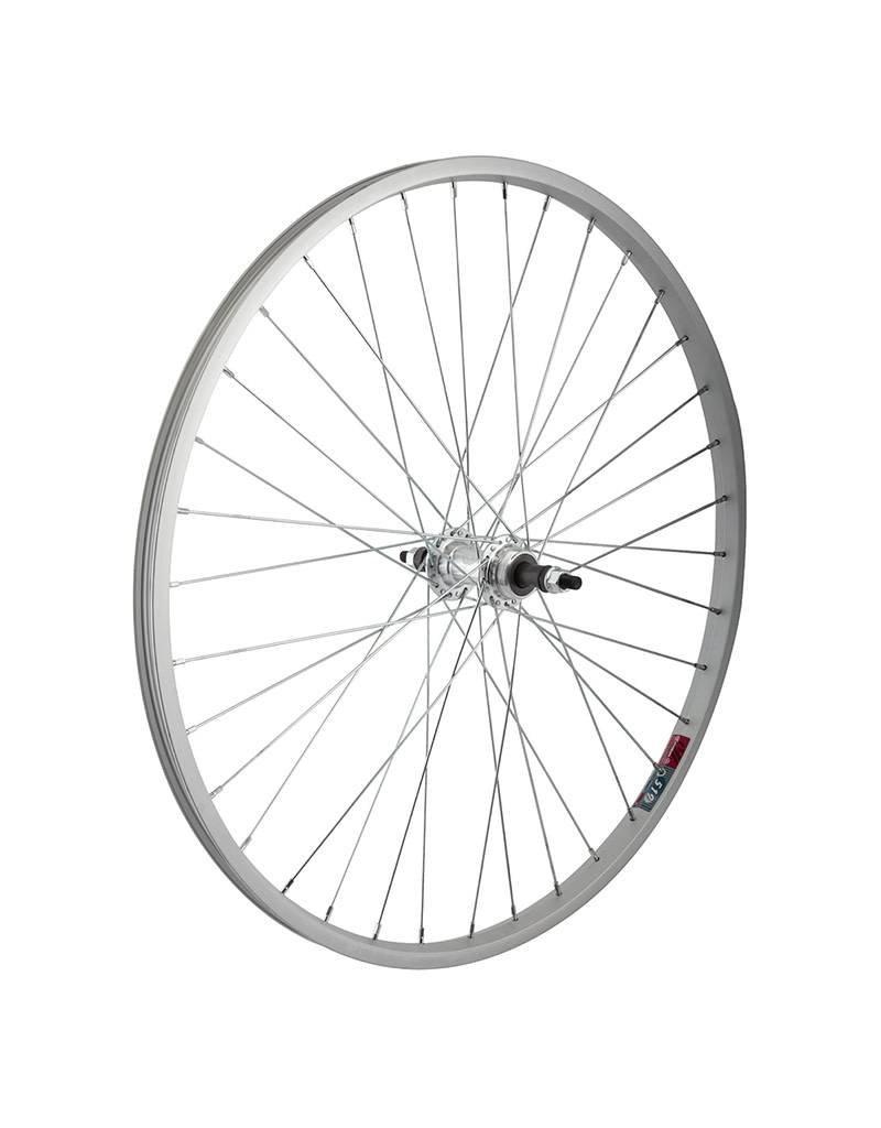 26x1.5 (559x19) Rear Wheel, Alloy, 36h, Freewheel 5/6/7sp, Silver 135mm