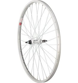 26x1.5 Sta-Tru Rear Wheel, 36 Spokes, 5-8 Spd Freewheel, Incl. Axle Nuts, Silver