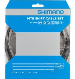 Shimano Shimano MTB Stainless Derailleur Cable and Housing Set, Black