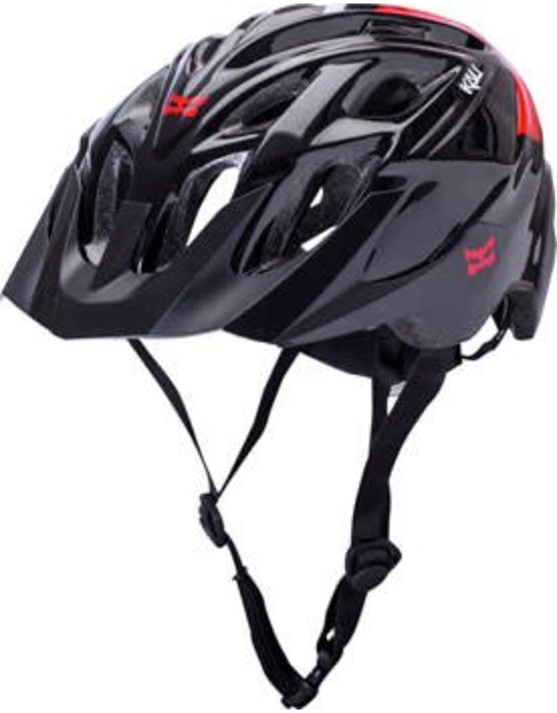 Kali Protectives Kali Protectives Chakra Solo Helmet: Neo Black/Red MD/LG