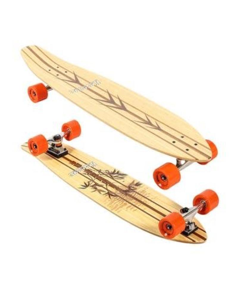 """Karnage Karnage 38"""" Pintail Bamboo Longboard Orange"""