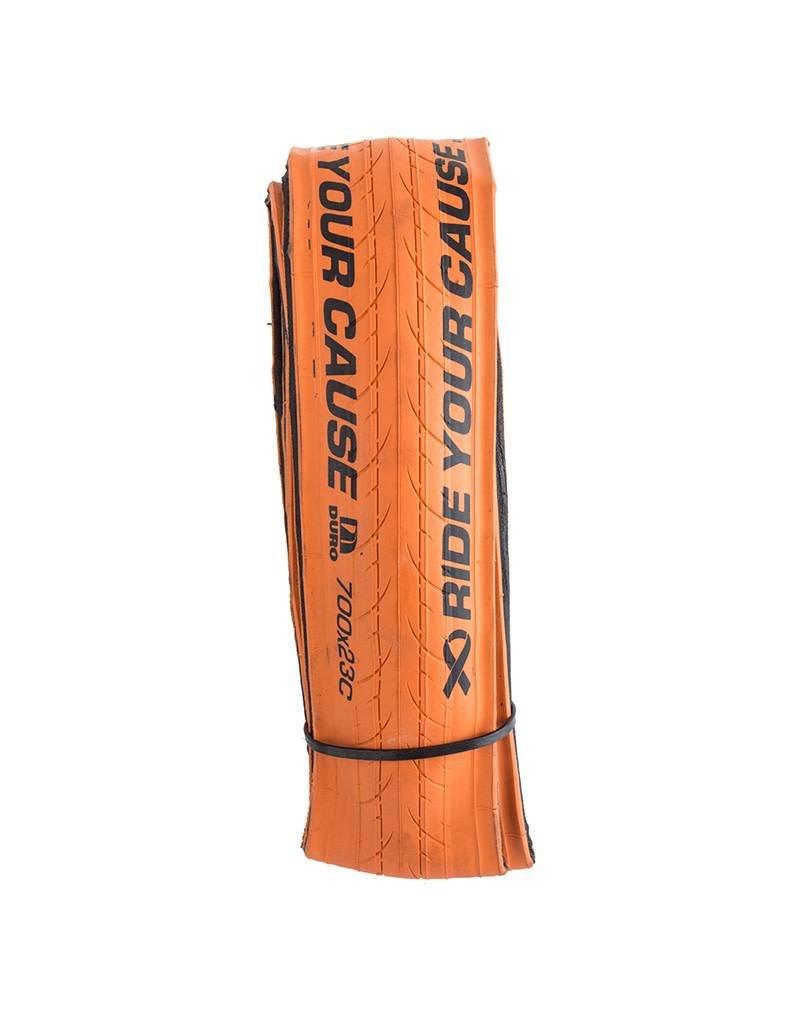 700X23c Duro Stinger Orange Aramid folding bead 127tpi