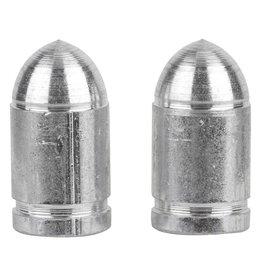 Trik Topz Trik Topz Valve Caps Presta Bullet Silver 1pr