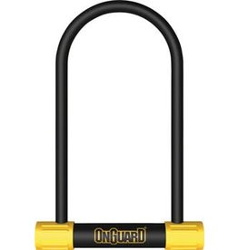 "OnGuard Bulldog Mini Lean and Mean U-Lock: 4.5 x 9"", Black/Yellow"