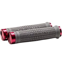 Chromag Chromag Squarewave XL Grips: Gray and Red