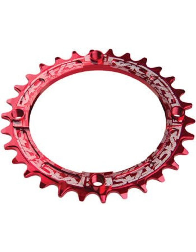 RaceFace RaceFace Narrow Wide Chainring: 104mm BCD, 32t, Red
