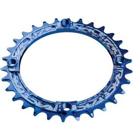 RaceFace RaceFace Narrow Wide Chainring: 104mm BCD, 32t, Blue