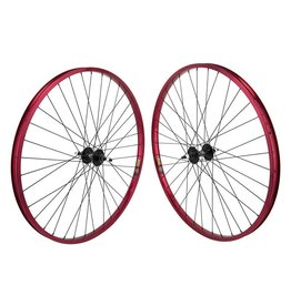 "29"" (622x22) Wheels Sun Rhyno Lite Red 36h, MX4000 Black, Freewheel, 3/8, 110mm"
