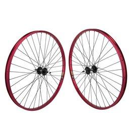 "Sun Ringle 29"" (622x22) Wheel Set Sun Ringle Rhyno-Lite Red 36h, MX4000 Black, Freewheel, 3/8, 110mm"