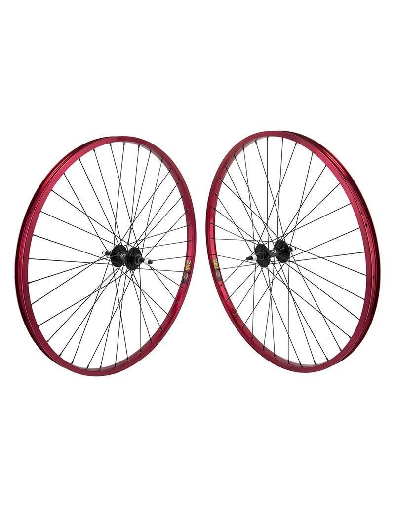 "29"" (622x22) Wheels Sun Rhyno Lite Red 36h, MX4000 Black, Freewheel, 3/8, 110mm"