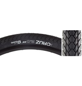 WTB 26x2.0 WTB Cruz Flat Guard Tire, Wire Bead, Black