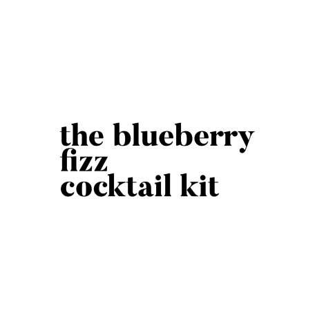 The Blueberry Fizz Cocktail Kit