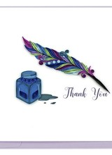 Quilling Card Thank You Quill & Ink