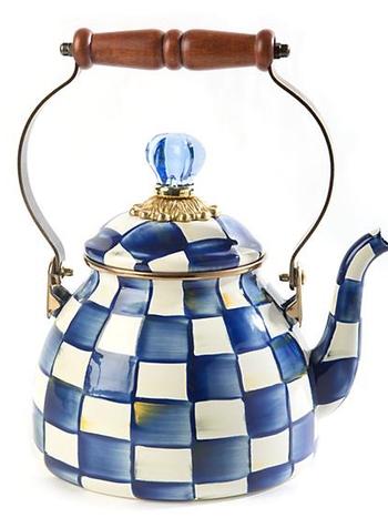Mackenzie-Childs Royal Check Tea Kettle - 2 Quart