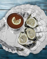 Arthur Court Designs Oyster W/Pearl Chip & Dip