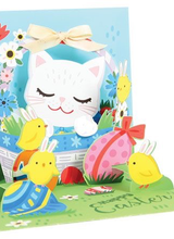Up With Paper Easter Kitten