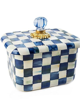 Mackenzie-Childs Royal Check Recipe Box