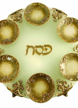 Quest Collection Gold Exodus Seder Plate