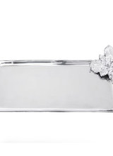 Arthur Court Designs Sophisticated simplicity creates the Roman Grape Tray. Handsomely accented by a cluster of grapes and leaves, the classic serving tray features a slightly raised border for stability. The aluminum tray is polished brightly from a casting for a non-tarnish