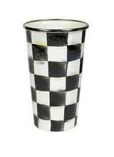 Mackenzie-Childs Courtly Check Enamel Tumbler - 20 ounce