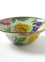 Mackenzie-Childs Flower Market Green Breakfast Bowl