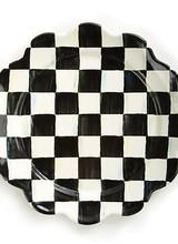 Mackenzie-Childs Courtly Check Enamel Petal Dinner Plate