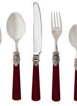 Rosanna Imports Napoleon Bordeaux 5pps<br />Napoleon Flatware collection<br />Material: 18/10 Stainless steel, ABS plastic handle<br />Dishwasher safe<br />Not suitable for microwaves