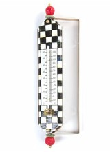 Mackenzie-Childs Courtly Check Enamel Thermometer