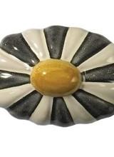 Mackenzie-Childs Black, White & Egg Yolk Fluted Knob