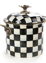 Mackenzie-Childs Courtly Check 7 Qt Stock Pot