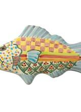 Mackenzie-Childs Fish Knob - Left Blue