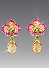 Jay Strongwater Savannah Orchid Drop Post Earrings - Flora