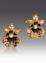 Jay Strongwater Anastasia Orchid Post Earrings