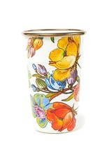 Mackenzie-Childs Flower Market White Tumbler 10 oz